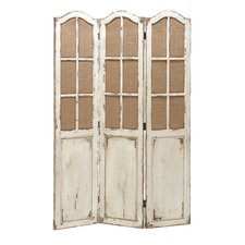 71 H 48 W Wooden Canvas 3 Panel Room Divider by Cole & Grey