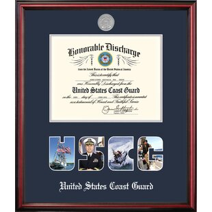 Coast Guard Discharge Petite Picture Frame By Patriot Frames
