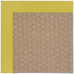 Lisle Machine Tufted Citronella and Beige Indoor/Outdoor Area Rug