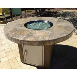 Kokomo Grills Bahama Concrete Gas Fire Pit Table
