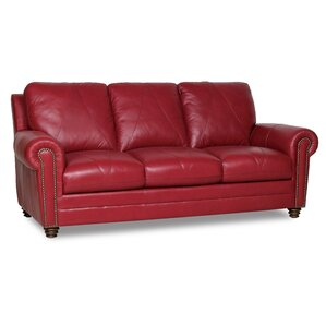 Barnstormer Leather Sofa by Red Barrel Studio
