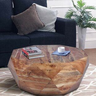 Bradbury Diamond Shape Acacia Wood Coffee Table