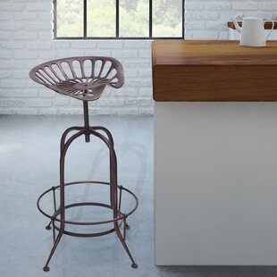 Gracia Adjustable Height Swivel Bar Stool by Williston Forge Reviews