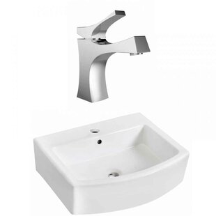 Comparison Above Counter Ceramic Vessel Bathroom Sink with Faucet and Overflow ByRoyal Purple Bath Kitchen