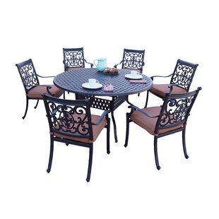 Mccraney 7 Piece Dining Set with Cushions