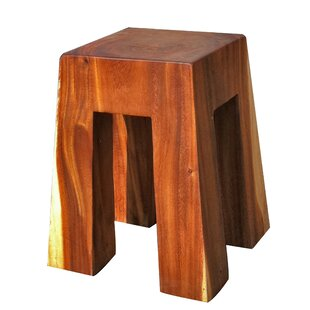 Bell Solid Wood Accent Stool by Asian Art Imports