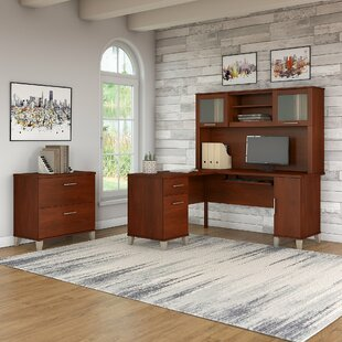 Lumley 3 Piece L-shaped Desk Office Suite by Red Barrel Studio