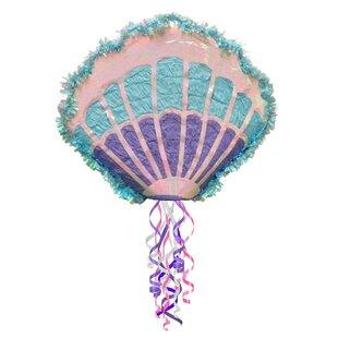 Mermaid Sea Shell Paper Disposable Pull-String Pinata