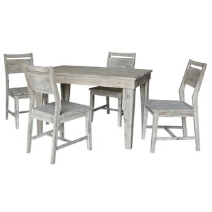 Gallup 5 Piece Solid Wood Dining Set Gracie Oaks