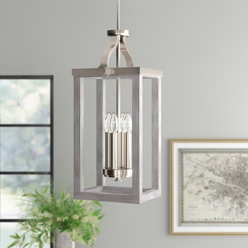 Three Posts Lailah 5 - Light Candle Style Square / Rectangle Chandelier