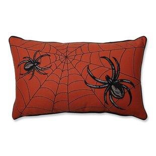 Spider Web Embroidery Lumbar Pillow