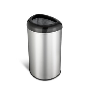 Stainless Steel 13.2 Gallon Open Top Trash Can