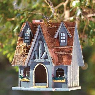 One Allium Way Luetta Fairytale Cottage Hanging Birdhouse