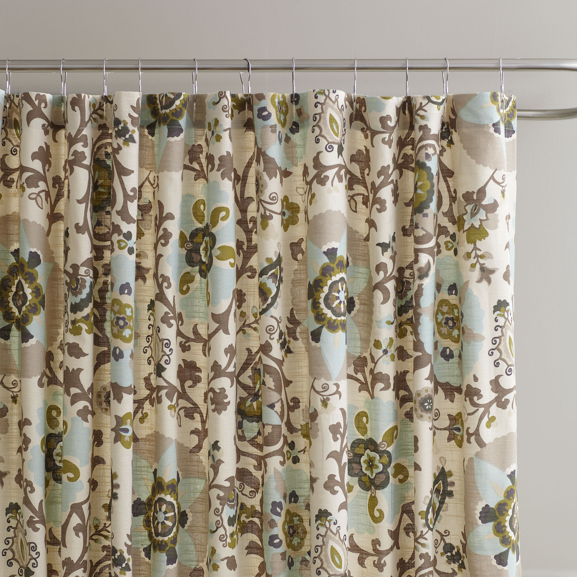 shower plaid and products monogram heads the deer buffalo curtain