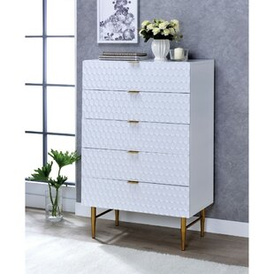 Lavina Wooden 5 Drawer Chest