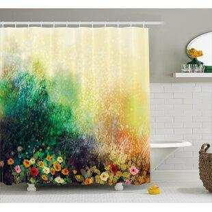 Montoya Flower Bed on Valley Shower Curtain ByWinston Porter