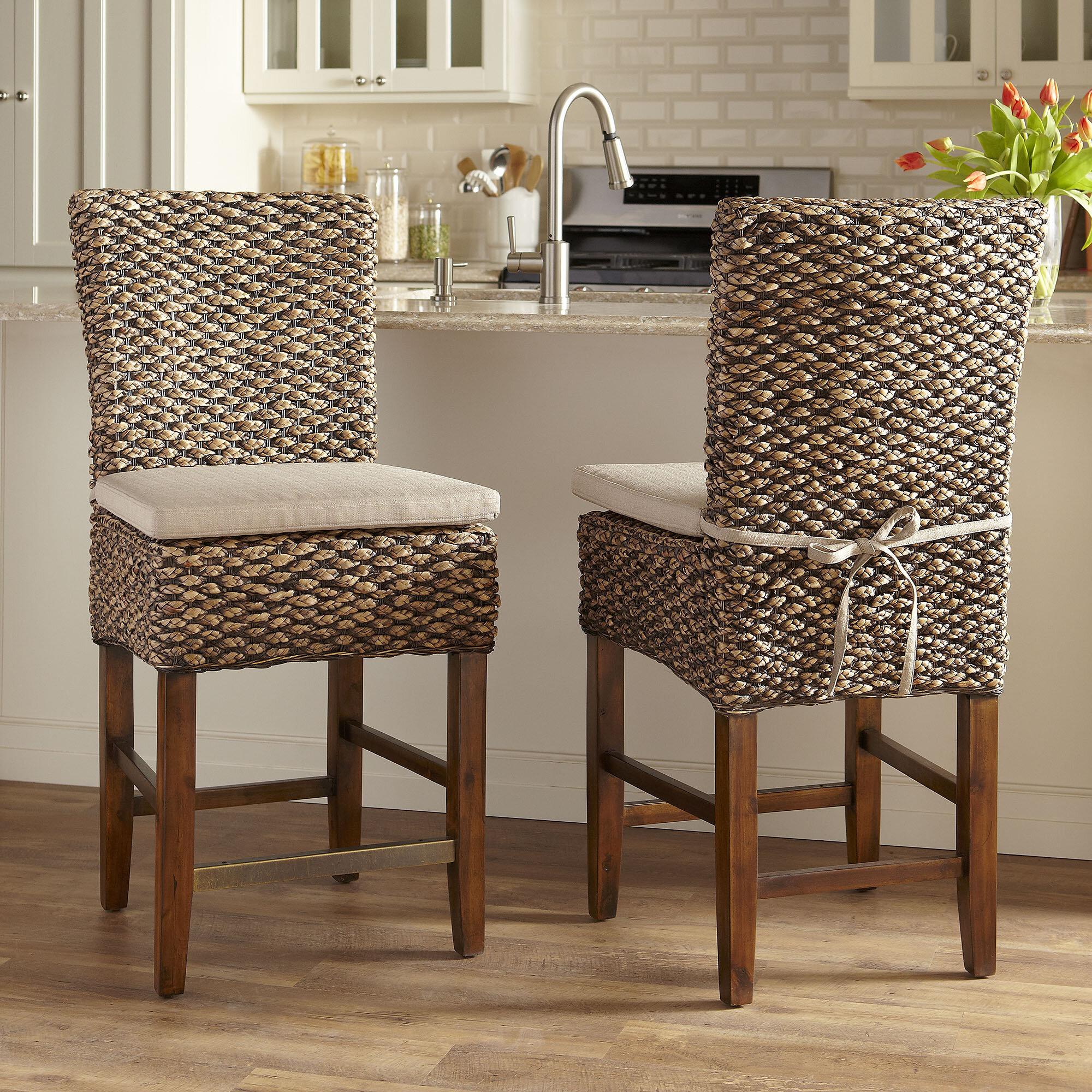 Birch lane 24 75 woven seagrass bar stool reviews wayfair