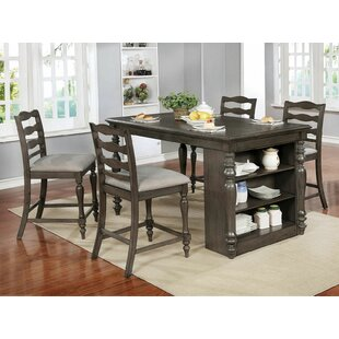 Durlston 5 Piece Counter Height Dining Set by Rosalind Wheeler Wonderful