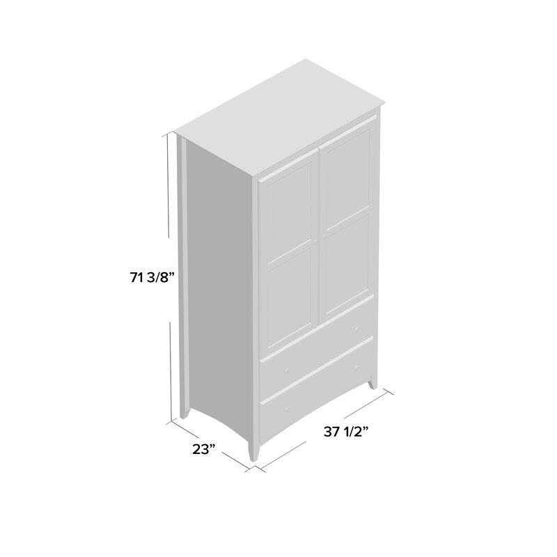 Avila 2 Door And 2 Drawer Armoire