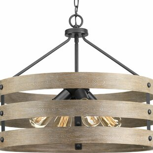 Best Emaria 4-Light Drum Chandelier By 17 Stories