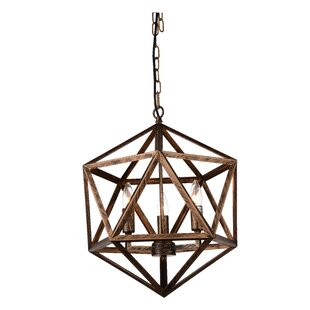 Amazon 3-Light Geometric Chandelier by CWI Lighting