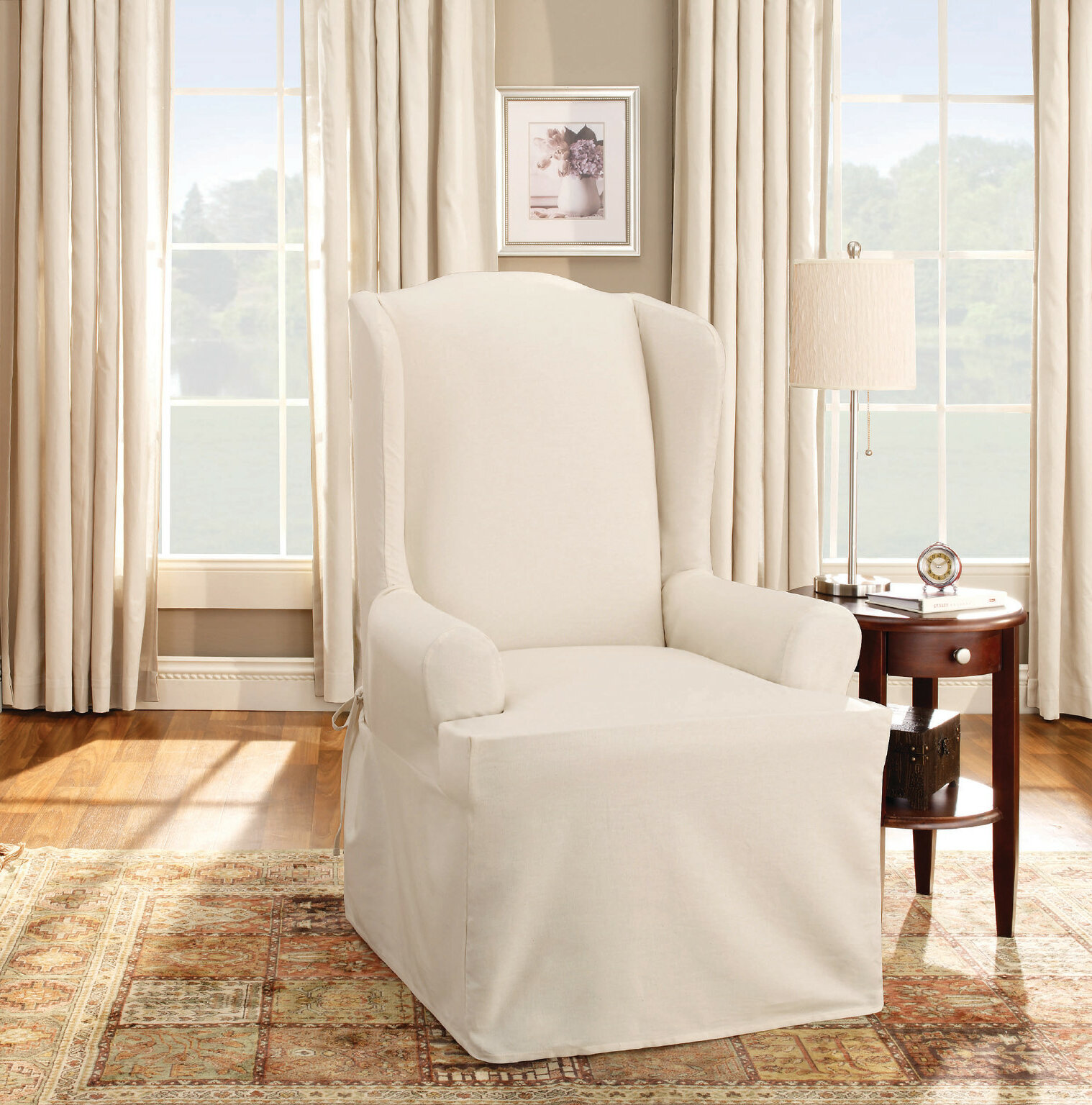 Beau Sure Fit Cotton Duck T Cushion Wingback Slipcover U0026 Reviews | Wayfair