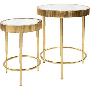 Affordable Price Weisgerber 2 Piece Nesting Tables by Bungalow Rose