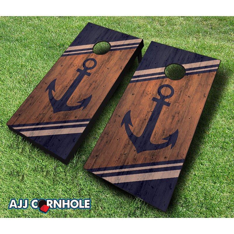 2 X 4 Anchor Solid Wood Cornhole Board