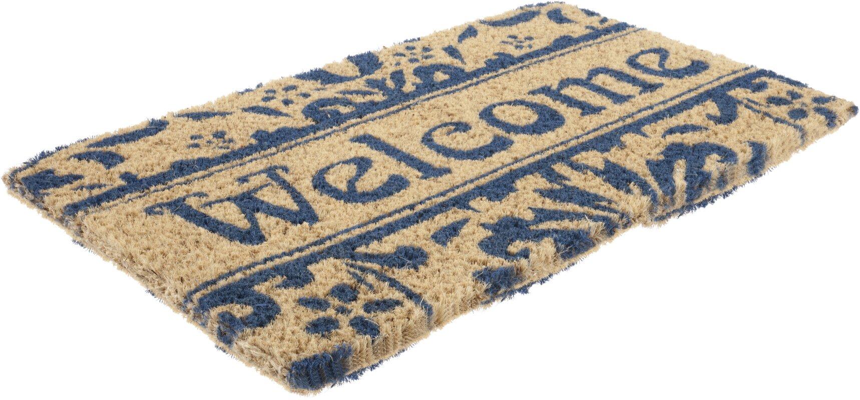 Damask Welcome Doormat & Reviews   Birch Lane