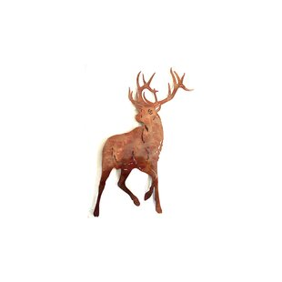 Handcrafted Metal Deer Wall Décor