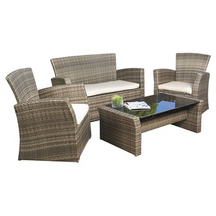 Redondo 4 Piece Sofa Set with Cushions