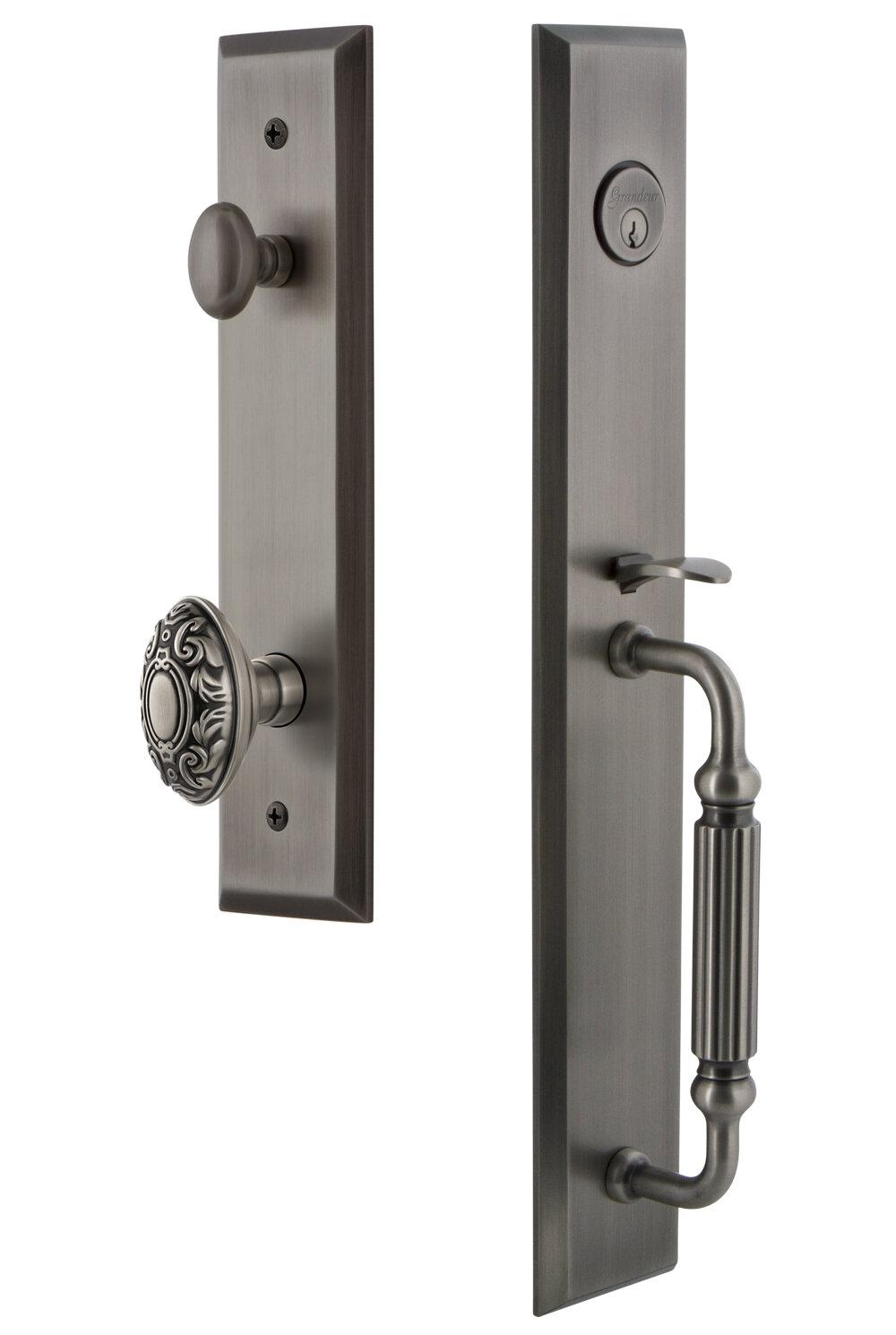 Grandeur Handleset With Single Cylinder Deadbolt And Grande Victorian Door Knob And Rosette Wayfair