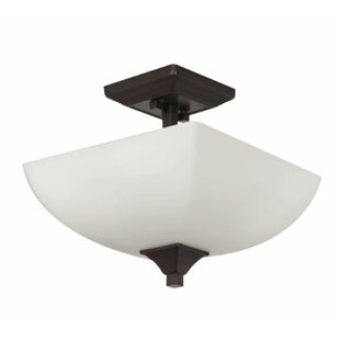 Wooten 2-Light Semi Flush Mount by Winston Porter