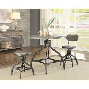 Lohr Beautiful 3 Piece Adjustable Pub Table Set 17 Stories