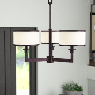 Darcia 3-Light Shaded Chandelier by Darby Home Co