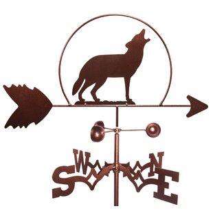 Wolf Howling At The Moon Weathervane By SWEN Products