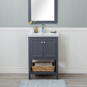 24 in bathroom vanity with sink. Hagins 24  Single Bathroom Vanity Set Modern Vanities Cabinets AllModern