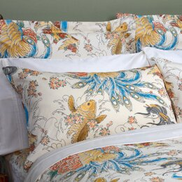 Geisha Garden Peacock Pillowcase (Set of 2)