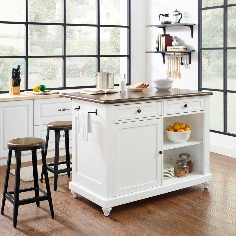 darby home co gilchrist kitchen island set reviews wayfair rh wayfair com photos of large kitchen islands photos of kitchen islands with cooktops