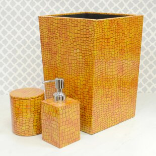 Kayleigh Genuine Leather 3 Piece Mini Bathroom Accessory Set By Brayden Studio