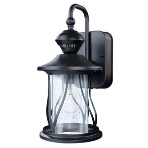 Justice 150u2070 Motion Activated Decorative 1-Light Outdoor Wall Lantern