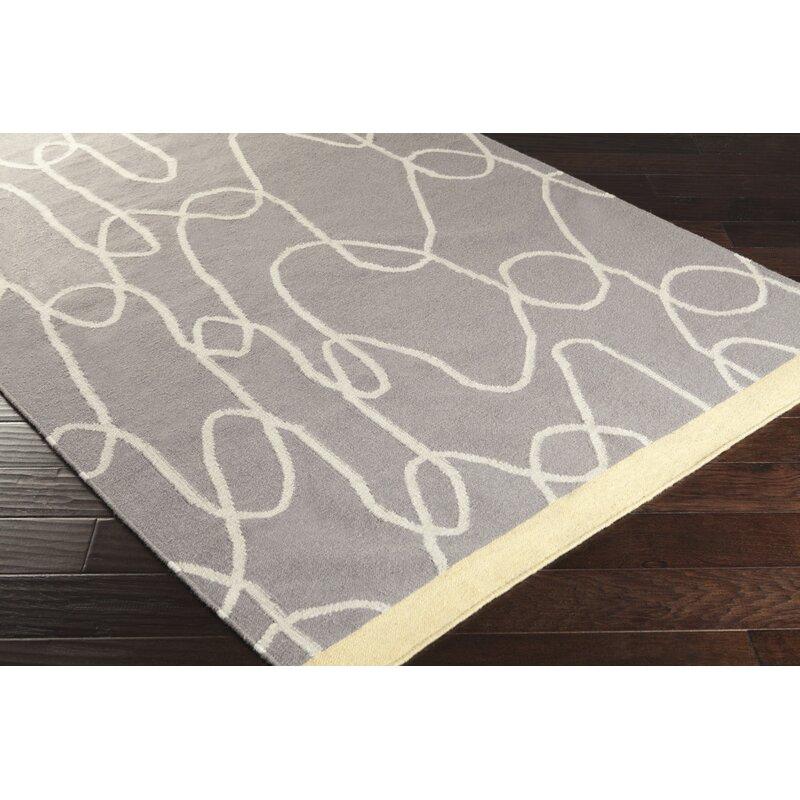 Lotta Jansdotter Textila Handmade Flatweave Wool Gray Rug Wayfair