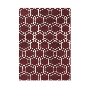 Price Check Sterlingville Hand-Tufted Dark Red Area Rug By The Conestoga Trading Co.