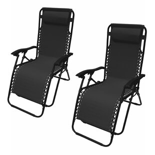 Kaylin Reclining Zero Gravity Chair with Cushion (Set of 2) by Freeport Park