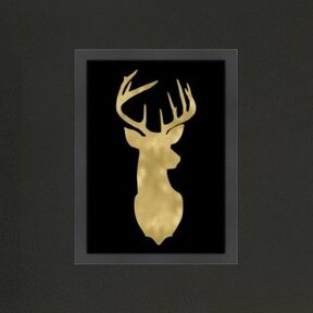 Millwood Pines Deer Head Right Face Framed Graphic Art Wayfair