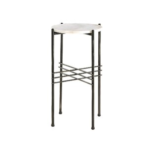 Bret Tall Marble Side Table By Wade Logan