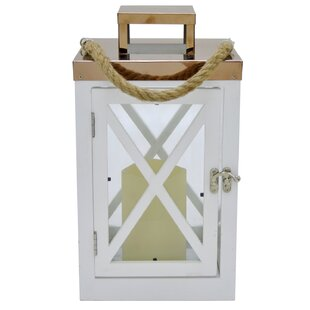 Compare & Buy LED Candle Wood Lantern By Rosecliff Heights