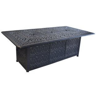 Darby Home Co Kristy Aluminum Propane Fire Pit Table