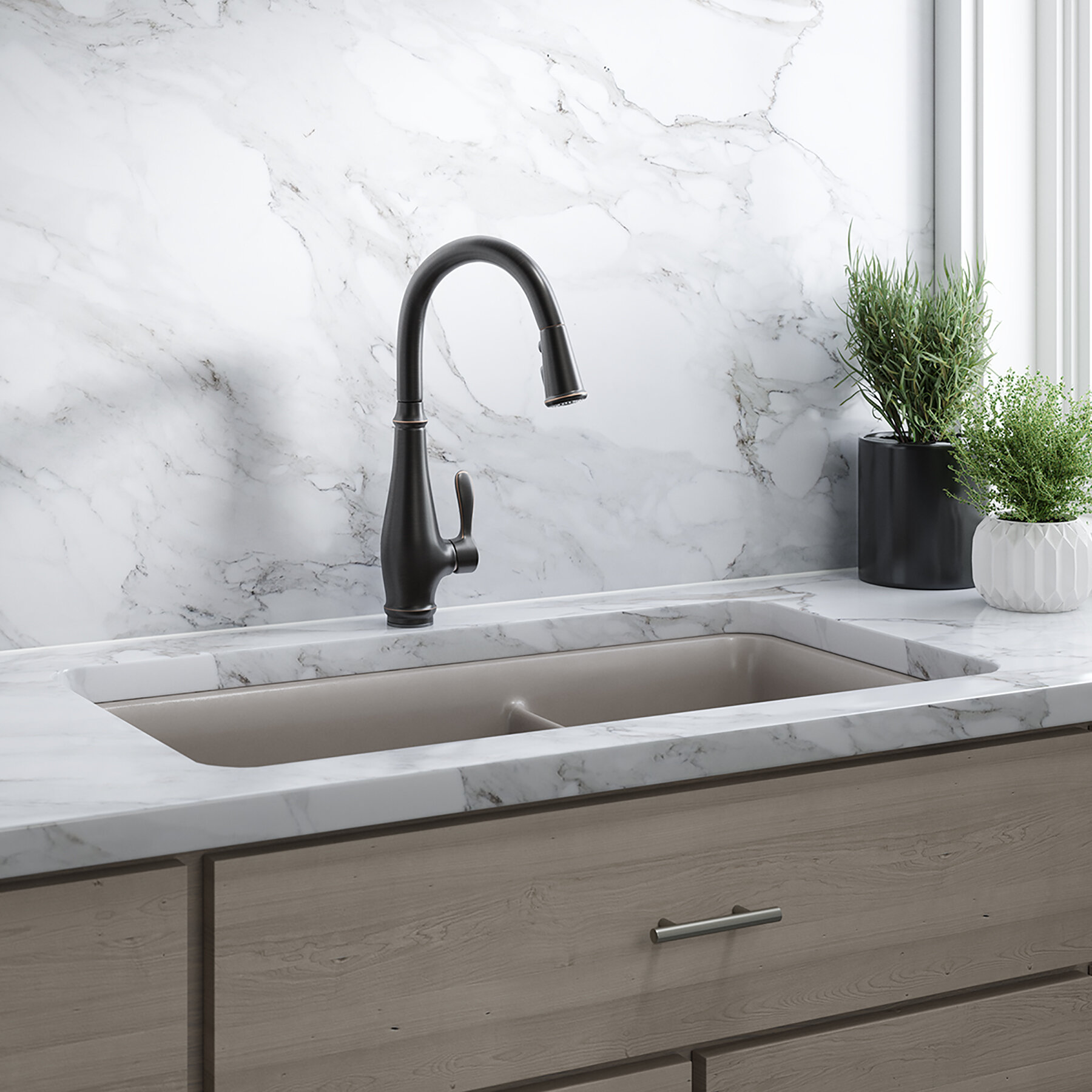 Cruette Pull Down Touch Single Hand Kitchen Faucet with DockNetik®,  ProMotion™, MasterClean™