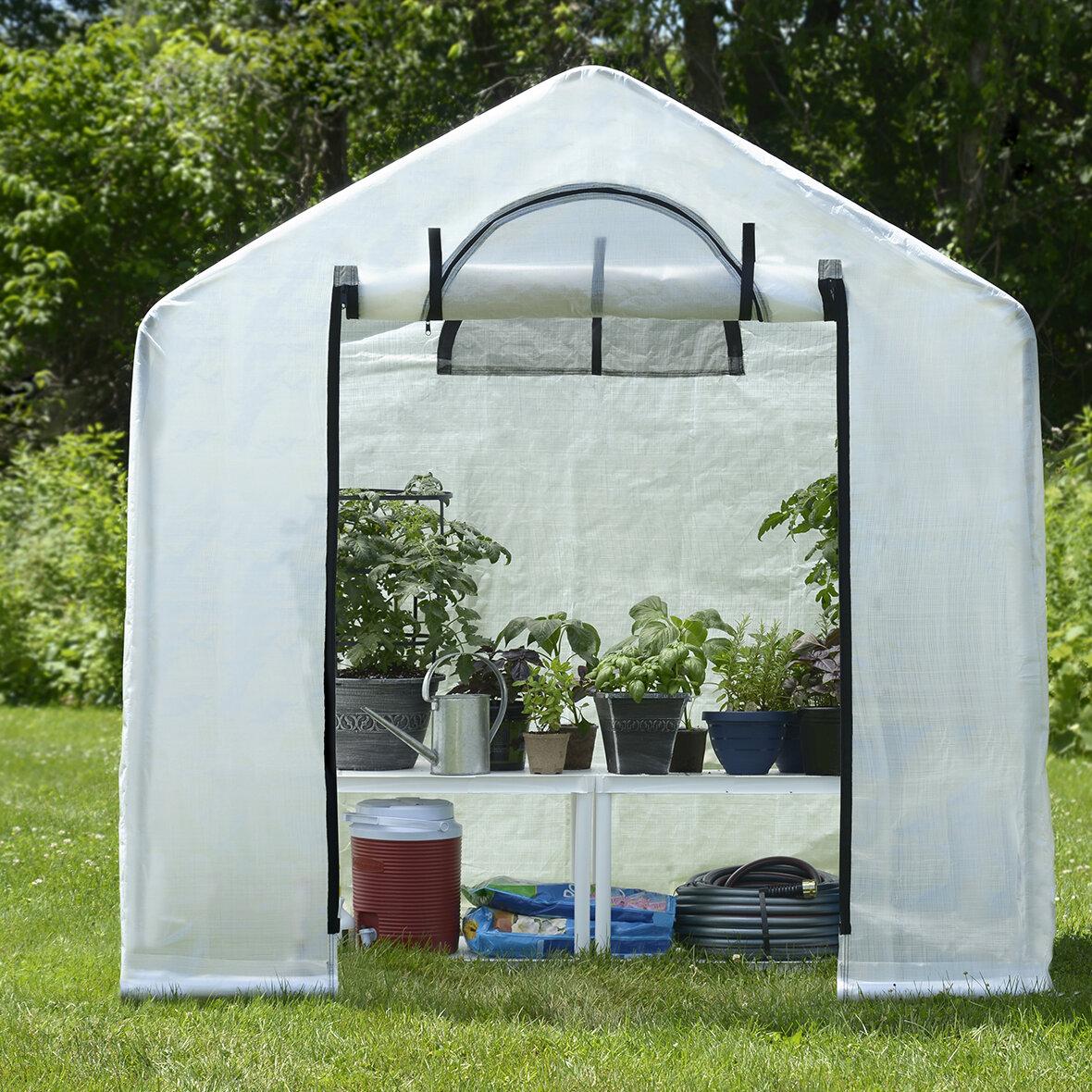 Shelterlogic Growit Backyard 6 Ft W X 4 Ft D Mini Greenhouse Reviews Wayfair Growit backyard greenhouse reviews